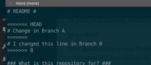 Git Merge Conflict Example