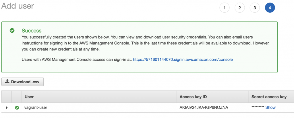 AWS Add User
